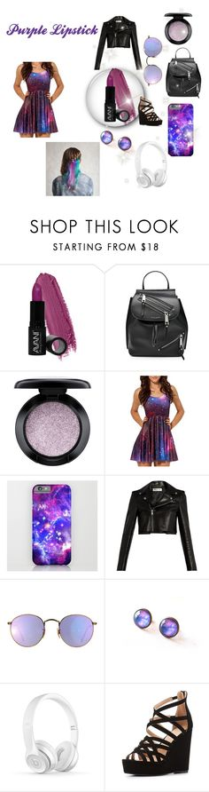 """""""Galaxy Outfit//Purple Lipstick"""" by maggieoquinn ❤ liked on Polyvore featuring Avani, Marc Jacobs, MAC Cosmetics, WithChic, Yves Saint Laurent, Ray-Ban and Charlotte Russe"""
