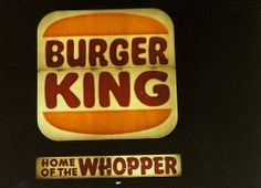 Classic Burger King sign: Home of the Whopper