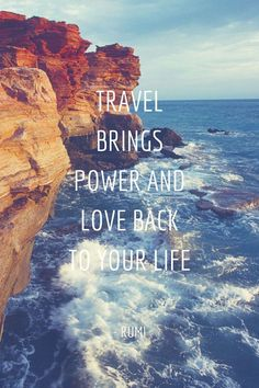 Top 25 Most Inspiring Travel Quotes: click image to discover inspirational quotes by famous people on wanderlust, travel destinations, geography and amazing places around the world. Voyage Quotes, Videos Mexico, Image Citation, Best Travel Quotes, Quote Travel, Funny Travel, Travel The World Quotes, Travel Mugs, Coffee Travel