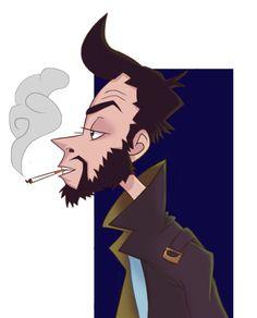 Smoking guy during the break.