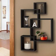 Wooden-Wall-Shelves-Squares-Intersecting-Floating-Mounted-Home-Decor