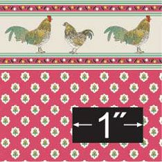 """Wallpaper: Rooster  Are Printed on Acid-free, Archival stock and measures11 1/2"""" x 18"""" Although color reproduction is as Accurate as possible it may not be a exact match. You may spray papers lightly with a sealer. Easy to follow installing instructions under TOMS TIPS   Model: BP1KT605"""