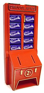 I got one of these Cadbury's dairy milk miniatures, dispenser machines for my birthday. I have to admit the novelty wore off pretty quickly & refills were expensive and hard to find.
