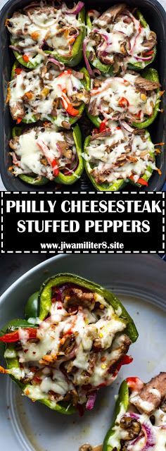 PHILLY CHEESESTEAK STUFFED PEPPERS - #recipes