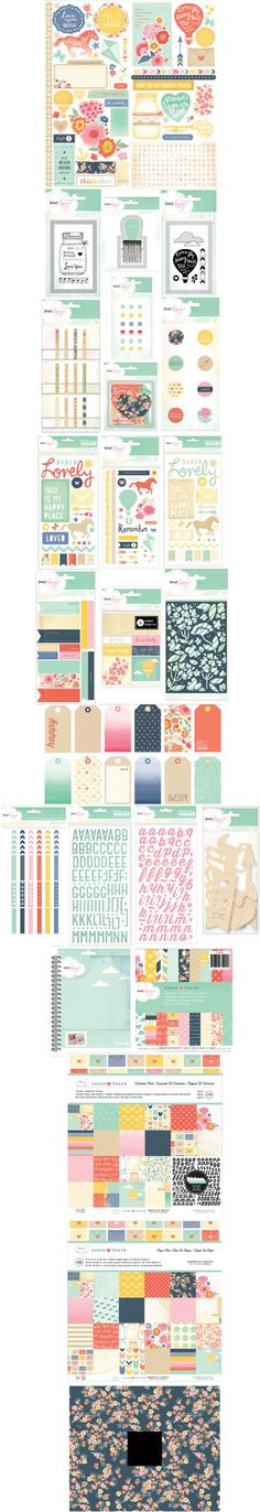 American Crafts: Dear Lizzy, Lucky Charm | I have papers from this line, as well as die cuts and stickers.
