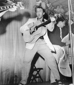 """The last date on the July '55 Florida tour was on July 31st in Tampa. There the Colonel hired Tampa photographer William V. """"Red"""" Robertson of Robertson & Fresh Photographers to take a series of photos of Elvis - Fort Homer W. Hesterly Armory"""