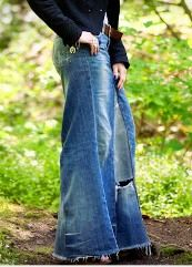 Tutorial: Recycled jeans maxi skirt