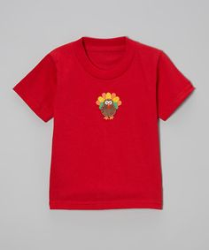 Take a look at this Red Turkey Tee - Toddler & Girls by Beary Basics on #zulily today!