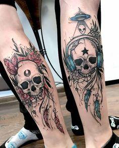 Pair Tattoos, One Piece Tattoos, Badass Tattoos, Skull Tattoos, Body Art Tattoos, Sleeve Tattoos, Cute Sister Tattoos, Brother Tattoos, Sibling Tattoos