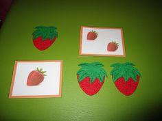 Jogo dos frutos: 1 morango, 2 morangos