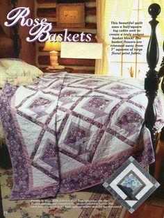 Rose Baskets Quilt Pattern Pieced CH