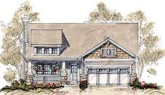 Plan W40844DB: Craftsman Touches and a Shed Dormer