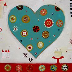 Barbara Franklet Mockingbird Studio in sunny Nelson is the home to artist Barbara Franklet. Working in a variety of mediums, Barbara's artwork draws inspiration from friends, family and folk tales. Welcome to my magical, quirky world. Heart Art, Spring 2015, Note Cards, Folk, Teal, Hearts, Kids Rugs, Symbols, Colours