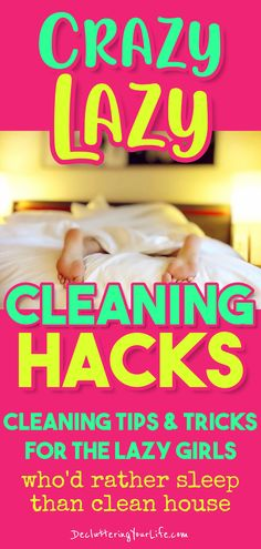 Cleaning hacks tips and tricks lazy girl guide – crazy lazy cleaning hacks for lazy girls who don't FEEL like cleaning, suck at cleaning or need to do some spring cleaning – here's where to start cleaning a messy house the LAZY way. Move Out Cleaning, Household Cleaning Tips, Cleaning Checklist, Cleaning Hacks, Household Cleaners, Cleaning Recipes, Hacks Diy, Cleaning Products, Lazy People