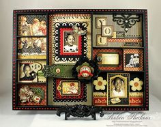 Beautiful altered shadow box by @Robin Shakoor - incredible! So rich in detail and loveliness!