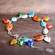 Murano glass bracelet.