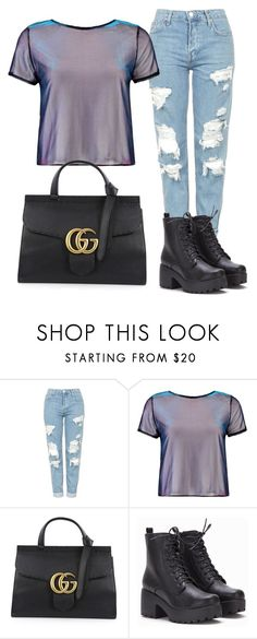 """""""🙄"""" by mys-rugbjerg-risbank-jensen on Polyvore featuring Topshop, Boohoo and Gucci"""