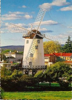 Windmill with Fantail - Australia-Tasmania-Launceston-Penny Royal