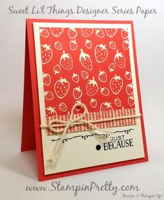 stampin up sweet li'l things tin of cards mary fish stampin pretty blog pinterest