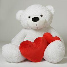 Giant Teddy  - Coco Cuddles Giant White Stuffed Teddy Bear 60 in - 5 Foot Teddy Bear, $142.99 (http://www.giantteddy.com/coco-cuddles-giant-white-stuffed-teddy-bear-60-in-5-foot-teddy-bear/)