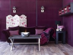 Remarkably Fantastic Living Room Idea Colors With Purple Theme .