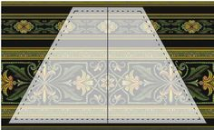 Mirror line for border print placemats