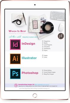 Looking to utilize adobe suite? We have a freebie filled with everything you need to decide which part of the Adobe suite is good for your design use. Planner Template, Printable Planner, Printables, Academic Planner, Blog Images, Photoshop Illustrator, Day Planners, Adobe Indesign, Photo Editing
