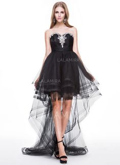 00aceb6eac60 A-Line/Princess Tulle Prom Dresses Newest Asymmetrical Sweetheart  Sleeveless (018056776)