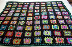 Check out this item in my Etsy shop https://www.etsy.com/uk/listing/262025653/granny-squares-crochet-blanket-afghan-50