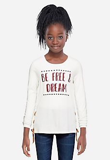 Embroidered Long Sleeve Tee