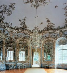 Hall of Mirros in Amalienburg - hunting lodge in Munich