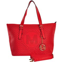 New Look Letter M Detail Cut Out Shopper Bag Black, Brown, Blue, Camel and  Red