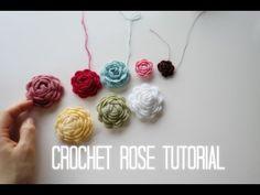 Crochet rose tutorial - YouTube