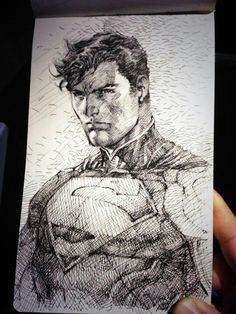 Superman sketch by Jim Lee
