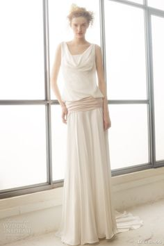 ir de bundo bridal 2015 lucia sleeveless cowl neck blouson wedding dress