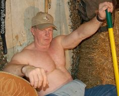 a redhead irishman working farmer shirtless bear