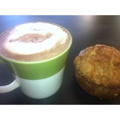 Starting the morning right @ Madalyn's Coffee & Tea with a Apple Crumble Muffin and a Frosted Mint Mocha Latte...mmmm