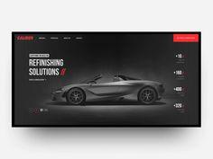 Caliber Refinishing Solutions Inc. Web Design - Caliber Refinishing Solutions Inc. Web Design Trends, Ui Ux Design, Layout Design, Web Design Websites, Web Design Studio, Design Logo, Homepage Design, Poster Design, Web Layout