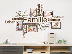 Wandtattoo Fotorahmen Wortwolke Familie