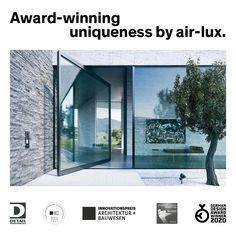 The pivot door gives a wide and generous opening and simple modern appearance, perfectly fitted to contemporary architecture. Many pivot doors currently on the market cannot compete with normal or sliding doors in terms of tightness. This is the great advantage of the air-lux pivot door: we guarantee 100% tightness at an unprecedented size of 15 m².  #pivot #airluxwindows #pivotdoor #pivotwindow #slidingwindows #minimalwindows #awardwinner Pivot Doors, Entry Doors, Sliding Windows, Sliding Doors, Seamless Transition, Glass Facades, Thermal Insulation, Safety Glass, Award Winner