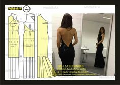 ModelistA added a new photo. Diy Clothing, Sewing Clothes, Clothing Patterns, Dress Patterns, Vestidos Paula Fernandes, Easy Sewing Patterns, Sewing Tutorials, Fashion Sewing, Diy Fashion