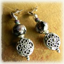 Bohemian Sterling Silver Post Earrings