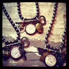 Necklaces w Vintage pieces www.dawnjosephine.com