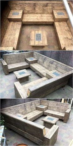 This is a great outdoor couch idea which is not hard to copy, but will take a few days for completion because it is huge and there is also a table with it. The pallets don't need paint for enhancing the look because they appear amazing as they are.