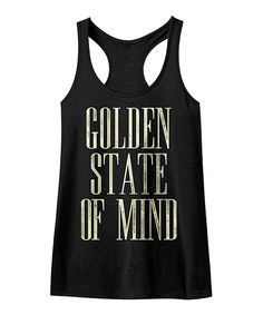 Look at this American Classics Black 'Golden State of Mind' Racerback Tank on #zulily today!
