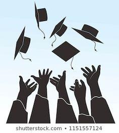 Graduation Silhouette, Graduation Scrapbook, My Room, Inktober, Silhouettes, Illustration, Panda, Crafts, Graduation Ideas