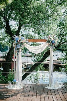 """Выездная регистрация в яхт-клубе """"Нептун"""" #выезднаярегистрация #арканасвадьбу #свадьба"""