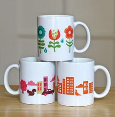 DIY Fun graphic mugs | How About Orange / from Zazzle