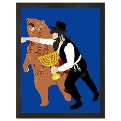 Hanukkah Haymaker Art Print
