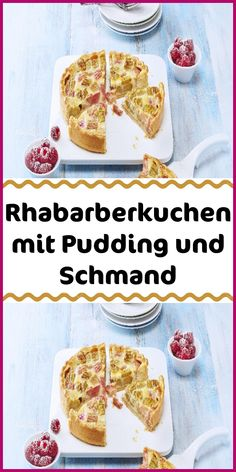 Rhubarb cake with pudding and sour cream Banana Bread Almond Flour, Easy Banana Bread, Bread Machine Recipes, Easy Bread Recipes, Pain Perdu Simple, Gluten Free Chocolate Cookies, Easy Gluten Free Desserts, Cinnamon French Toast, Gluten Free Peanut Butter